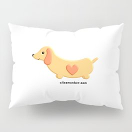 Kawaii Dachshund Dog Pillow Sham