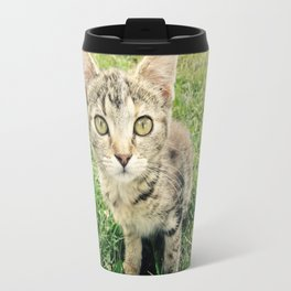 Inquisitive Cat Travel Mug