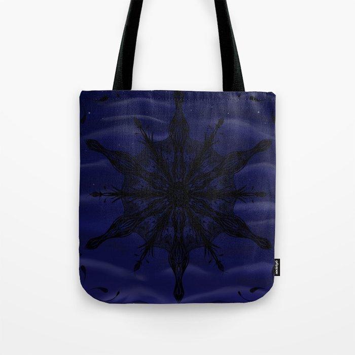 Gothic Snowflake Silhouette Tote Bag