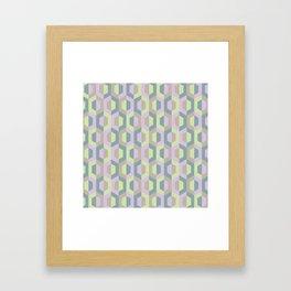 Pastel Two Tone Hexagon Framed Art Print