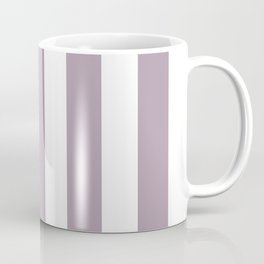 Lilac Luster violet - solid color - white vertical lines pattern Coffee Mug