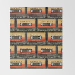awesome transparent mix cassette tape vol 1 Throw Blanket
