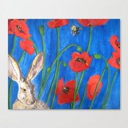 C'mon get Poppy! Canvas Print