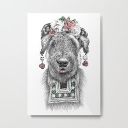 Suusi Kahlo II Metal Print