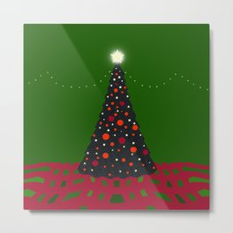 Christmas Tree with Glowing Star Metal Print