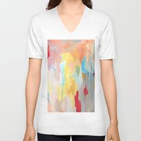 study V-neck T-shirts featuring Abstract Study by Kim Leutwyler