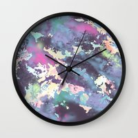 celestial Wall Clocks featuring Celestial by Wendy Ding: Illustration