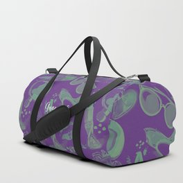 FASHION STYLE PURPLE AND GREEN Duffle Bag
