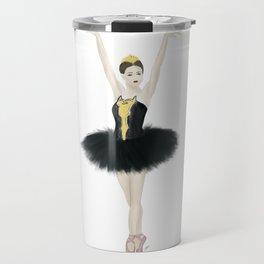 Black Swan Ballerina Travel Mug