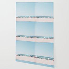 Beach Huts Wallpaper