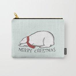Dreaming Christmas Polar Bear Carry-All Pouch