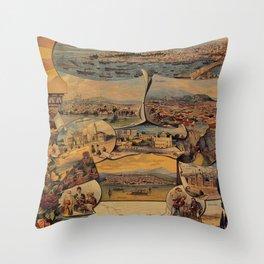 Oriental railways to Constantinople Throw Pillow