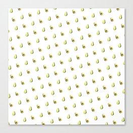 Avocado Print | White Canvas Print