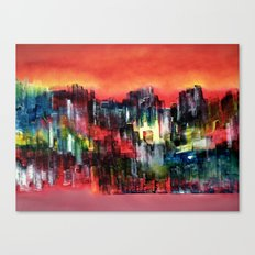 City of colour and lights Canvas Print