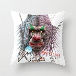 Not Clowns Throw Pillow