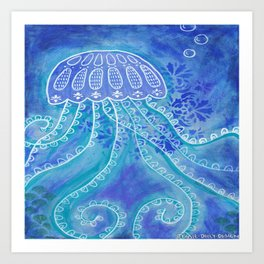 Barlings Design jelly fish 1 Art Print