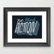 Action Framed Art Print