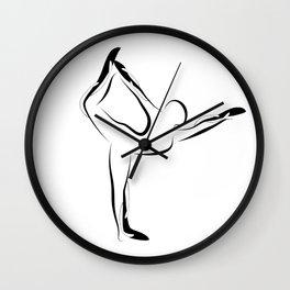 Yoga pose2 Wall Clock