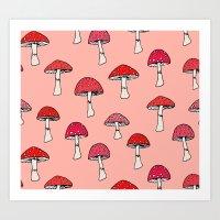 mushroom Art Prints featuring Mushroom by Abby Galloway