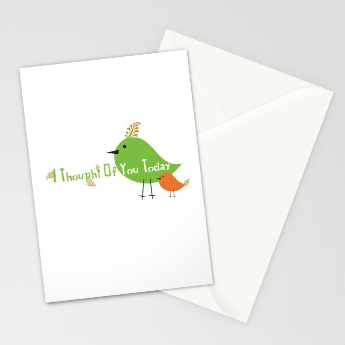 I Thought Of You Today Stationery Cards