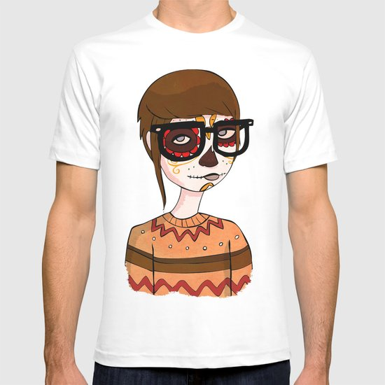 Day of the Dead Hipster T-shirt