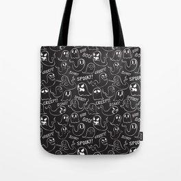 Ghosties in Black Tote Bag