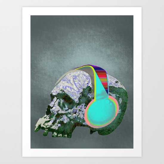 addicted to music Art Print