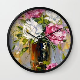 Bouquet of delicate roses Wall Clock
