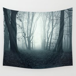 blue forest Wall Tapestry