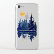 Denim Design Pine Barrens Reflection Clear iPhone Case
