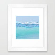 Kapukaulua Pure Blue Surf Framed Art Print