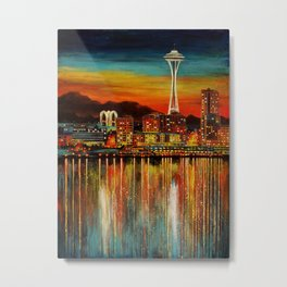 Seattle from Alki Metal Print