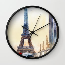 Morning in Paris Wall Clock