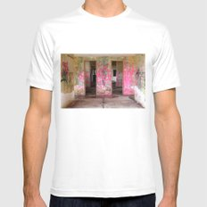Pink White Mens Fitted Tee SMALL