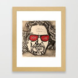 """The Dude Abides"" featuring The Big Lebowski Framed Art Print"