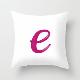 Scripted Monogram E Throw Pillow