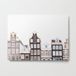 Crooked Houses - Amsterdam Architecture Photography Metal Print