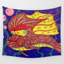 It Went Swimmingly Wall Tapestry