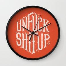 Unfuck shit up Wall Clock