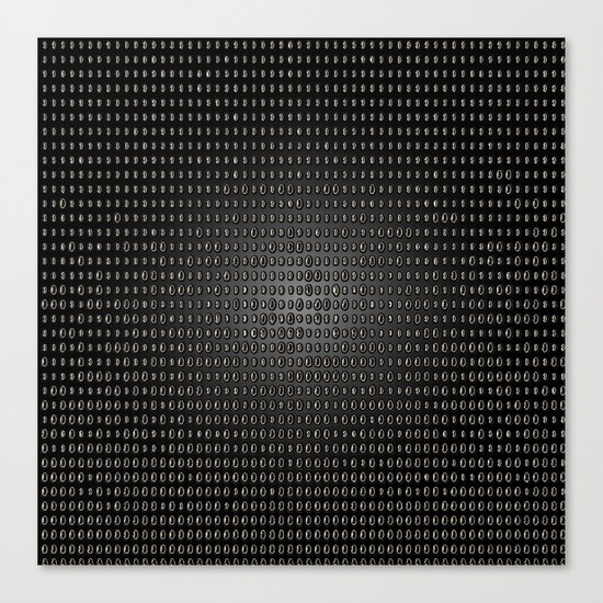 Black Dot Matrix Canvas Print