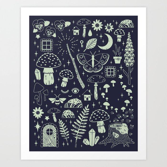 Fairy Garden: Midnight Art Print