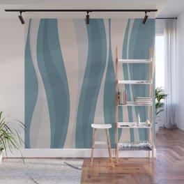 Blueprint Wavy Pattern 3 Wall Mural