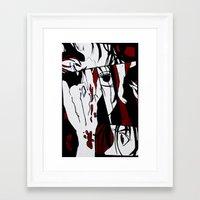 manga Framed Art Prints featuring Grafitti Manga by Fine2art