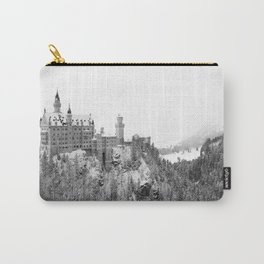 Black and White Neuschwanstein Castle in Winter Carry-All Pouch