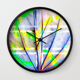 Collage with long leaves Wall Clock