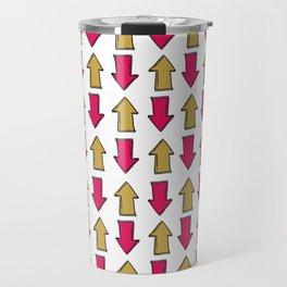 Bright pink orange modern artistic arrows Travel Mug