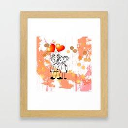 Beste Freunde - best friends Framed Art Print