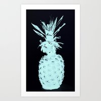 ELEXTRIC PINEAPPLE Art Print