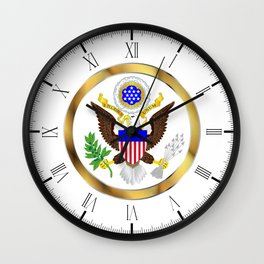 Great Seal Of America Wall Clock