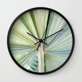 Fanned Palms Wall Clock